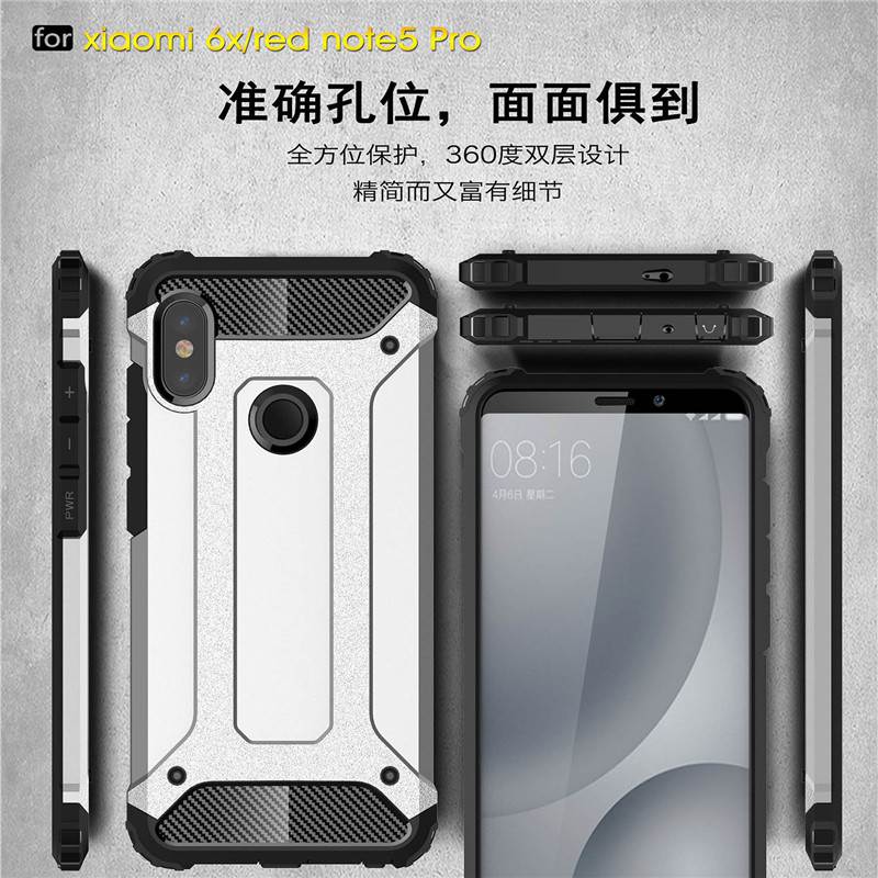 For Xiaomi Redmi Note 5 Pro Case Soft Silicon PC Hard Armor Anti knock Back Cover Fitted Cases For Xiaomi Redmi Note 5 Pro in Fitted Cases from Cellphones Telecommunications