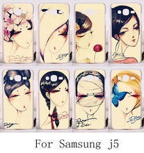 Puppet Doll Cute Stylish Painting Cover For Samsung Galaxy J5 2015 SM-J500F Cases Ghost baby Plastic and Silicon Durable Shell
