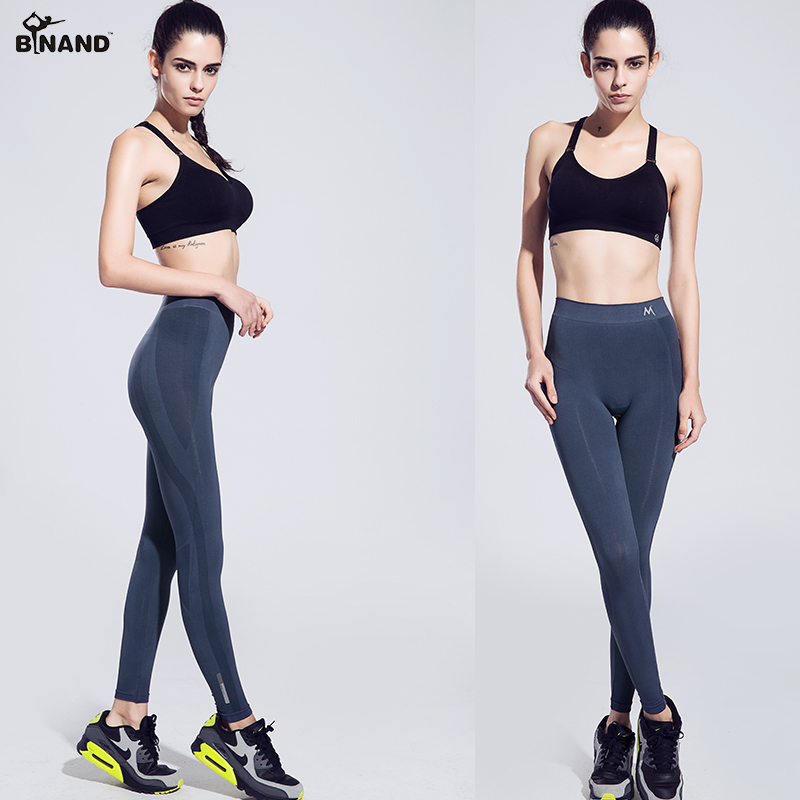 BINAND Women High Elastic Leggings Push Up Ankle-length Pants Absorb Sweat Workout Gym Fitness Outdoor Running Sports Trousers