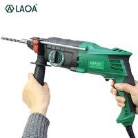 LAOA 900 Вт легкий вес электрический молоток 26 мм Диаметр тройной назначения электродрель Furadeira Мощность инструменты с аксессуарами
