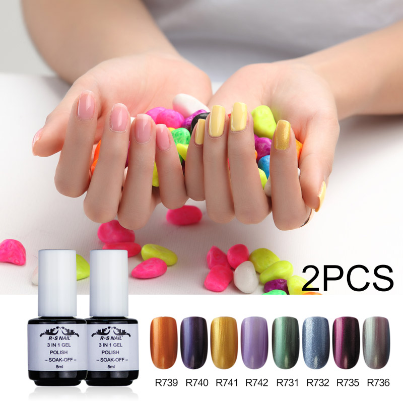 RS One Step 5ML*2piece Gel Polish Set Hot Sale High Quality Nail ...