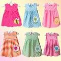 Детские Платья 1-18 месяцев Девушки Младенческой Хлопок Одежда Dress Лето Одежда Отпечатано Вышивка Девушка Дети Dress