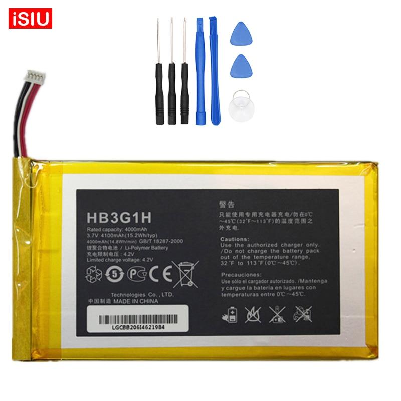 New 4100mAh HB3G1 / HB3G1H Battery For Huawei Mediapad 7 S7-301W S7-301U S7-931 S7-601U / C / W Tablet PC + Tools