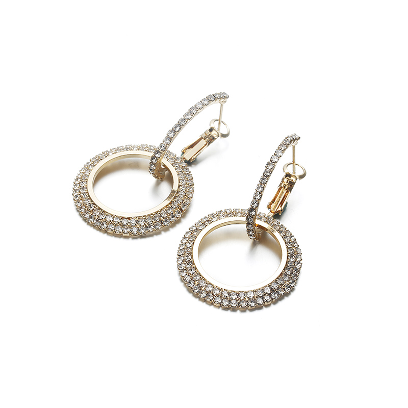 Simple Style Fashion Silver Gold Color Earrings for Women Square Round Geometric Hanging Earrings 18 Female Pendientes Jewelry 44
