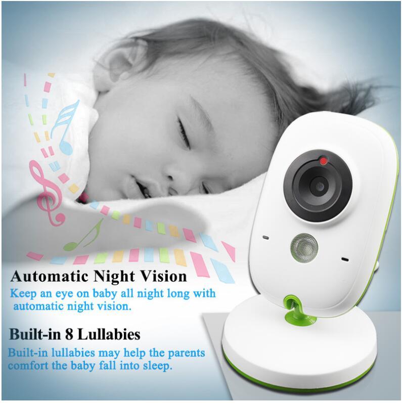 Dla dzieci Monitor bezprzewodowy Audio wideo Baba elektroniczny przenośny domofon Babyfoon kamera BeBe niania Walkie Talkie opiekunka do dziecka VB602