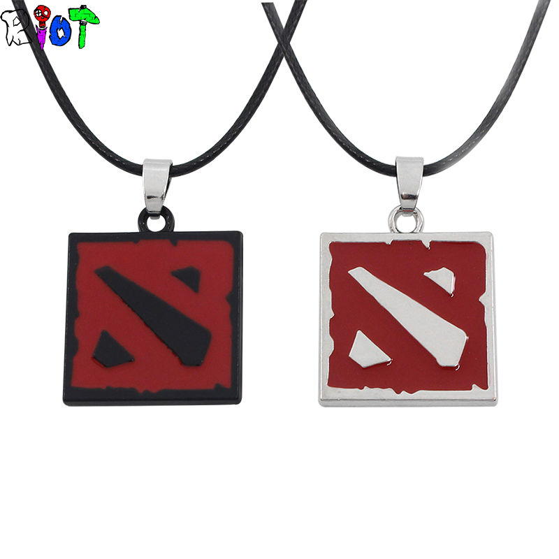 3d Online Game Dota Logo Necklace Defense Of The Ancients Black