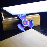 Seiko Rotablade Fidget Spinner Metal Torqbar Brass Colorful Finger Spinner EDC Toys Tri Spinner Hand Spinner