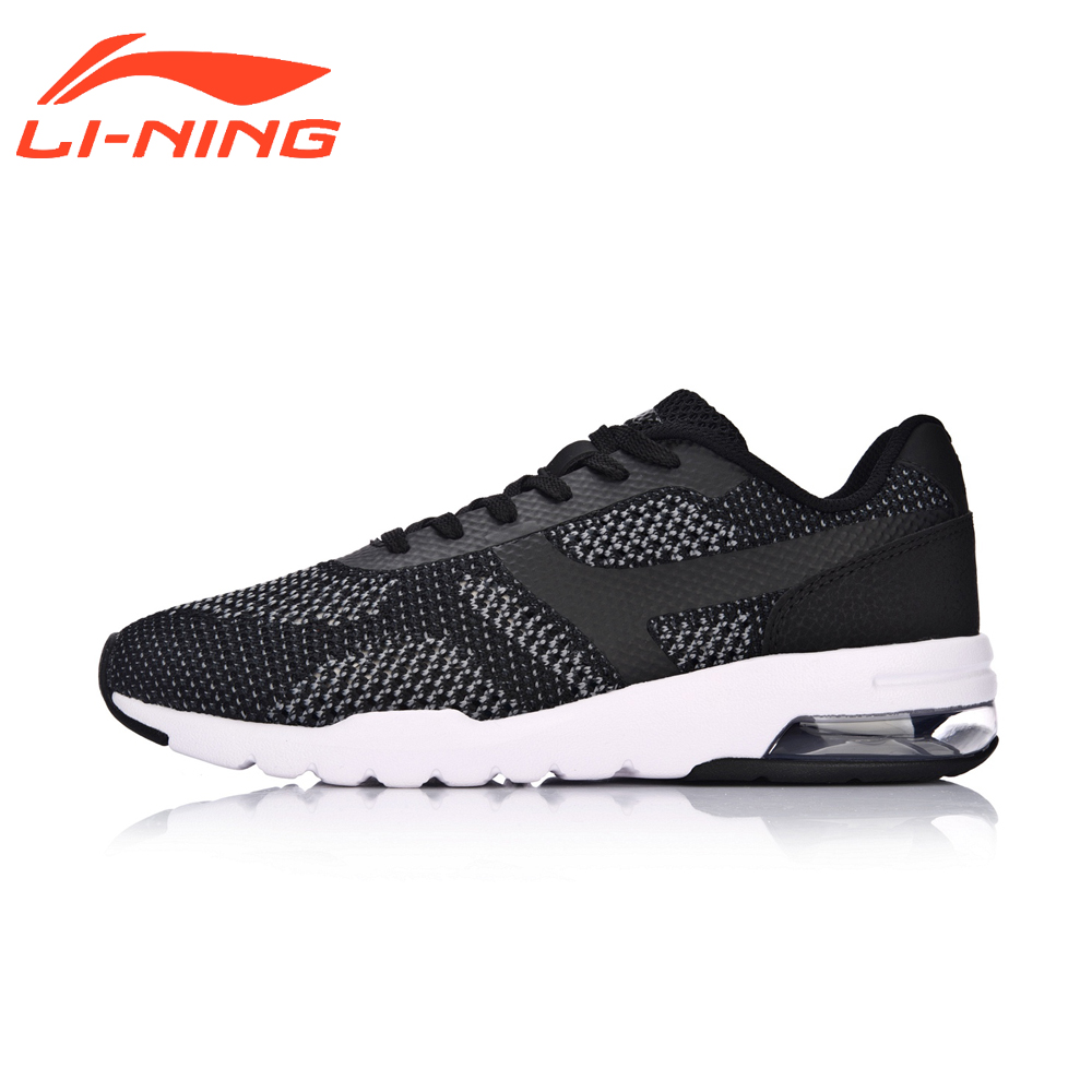 Li-Ning Women Walking Shoes Light Weight Textile&TPU Sports Shoes Breathable Bubble UP Knit Classic Sneakers LiNing AGCM046 original li ning men professional basketball shoes