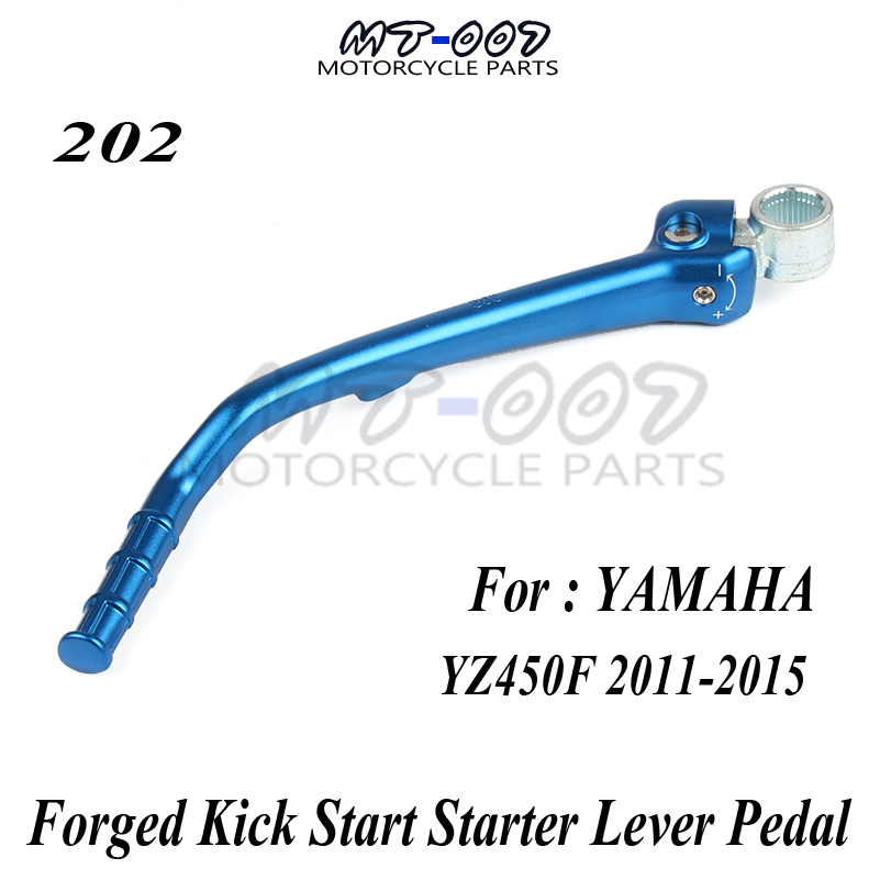 Forged Kick Start Starter Lever Pedal For YAMAHA YZ450F YZF 450 2011-2015 Motocross Dirt Bike Off Road Motorcycle Free Shipping motocross motorcycle kick start starter pedal lever for yamaha yz450f yzf450 yzf 450 2011 2012 2013 2014 2015 dirt bike