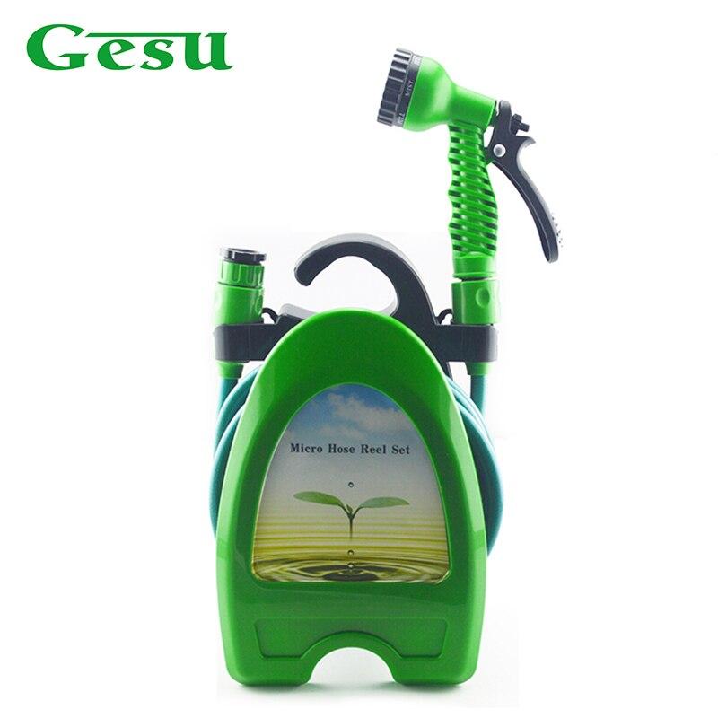 Gesu Garden Water Hose Pipe Spray Gun 10m Micro Reel Car Washing Tool