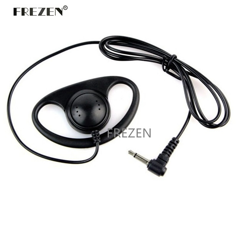D Type 3.5 Mm Single Listening Ears Hang  Headset For Two Way Radio Microphone Suit MP3 Mobile Phone