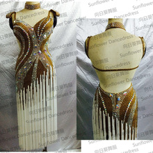 NEW!Latin dance dress,tango salsa samba dancing dress, latin dance wear , cha-cha dancewear Latin Dance CompetitionSexy Latin