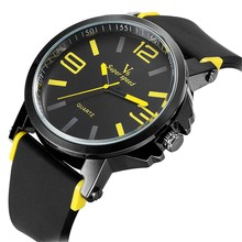Men Top Sport Brand V6 Big Dial Watch Big Face Quartz Silicone Band Watches Mens Sports Male Wristwatch New Designer Style