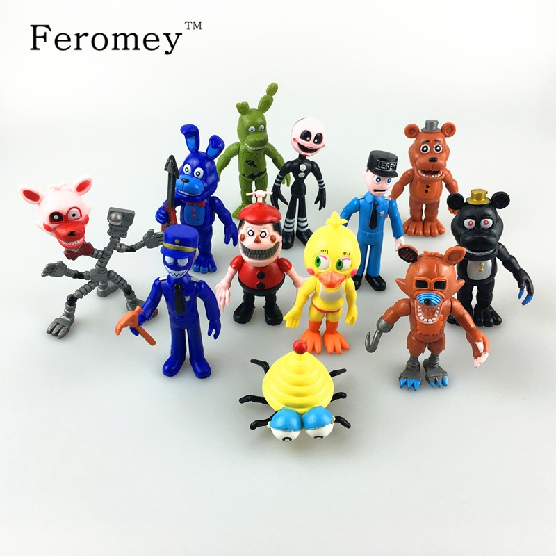 Hot Five Nights At Freddy's Action Figure Toys FNAF Chica Bonnie Foxy Freddy Fazbear Bear Anime Figures Freddy Toys for Children