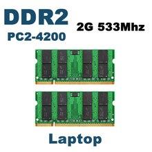 DDR2 533 Mhz 4 GB (2X2 GB) PC2-4200 1.8 V Marque New SODIMM Mémoire Ram memoria ram Pour ordinateur portable