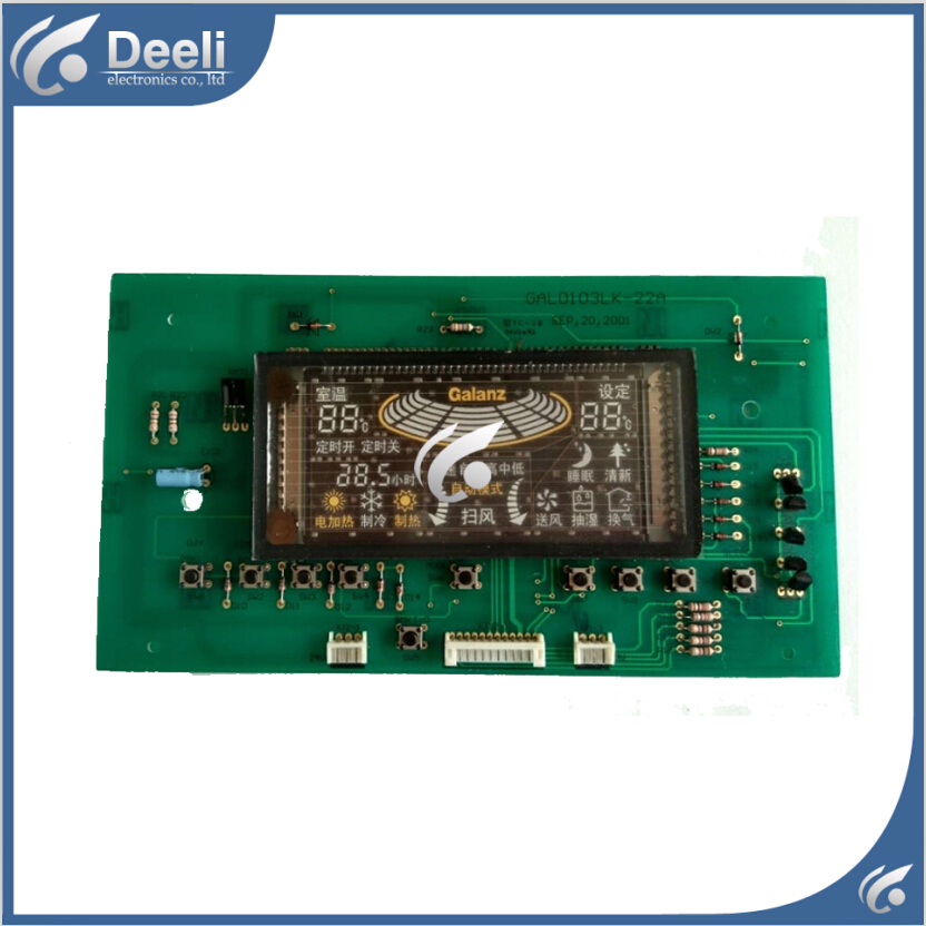 95% new  for Galanz air conditioning Computer board GAL0103LK-22A Parts display board circuit board холодильник galanz bcd 217t