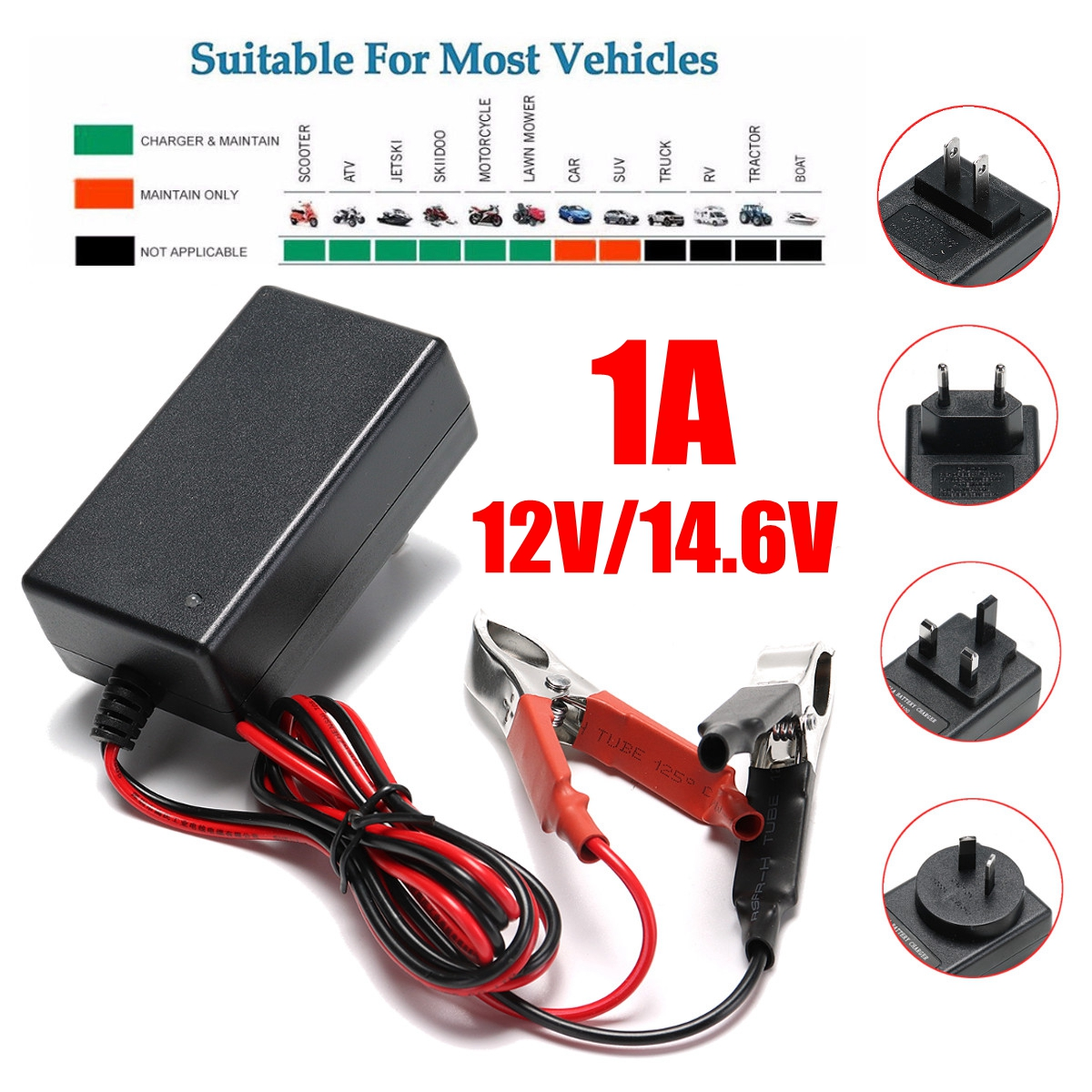 2AH 10AH Smart Battery Charger Maintainer Tender Trickle 6V 12V Automobile Motorcycle New US EU UA