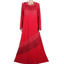 Muslim abaya dress islamic hijab long dress dubai kaftan robe abaya turkish clothes muslim abaya dresses red 70MD791