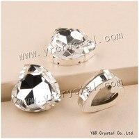 YANRUO #4827S 28mm Clear Heart Sew On Rhinestone Glitter Gems Fancy Stones Strass Crystal Pointback With Claw Setting
