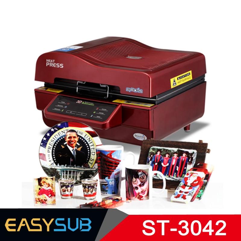 ST 3042 3D Stampante A Sublimazione 3D di Calore di Vuoto Presse di Trasferimento Macchina da Stampa per il Telefono Custodie Tazze Piatti Occhiali - 4