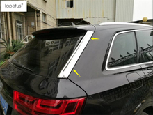 Lapetus Accessories Fit For Audi Q7 2016 2017 2018 2019 Bright Rear Tailgate Trunk Spoiler Decoration Lid Sequins Cover Kit Trim