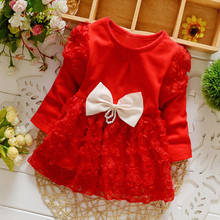 Baby Dresses Girl Autumn Winter Newborn Infant Clothes Baby Girl Clothing Princess Party Christmas Dresses Cotton Long Sleeve