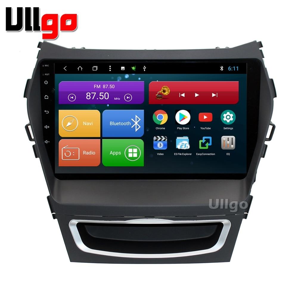9 pouce Octa base Android 7.1 Unité De Tête de Voiture pour Hyundai iX45 Santa Fe 2013 2014 Autoradio GPS avec BT Radio RDS Miroir-lien Wifi
