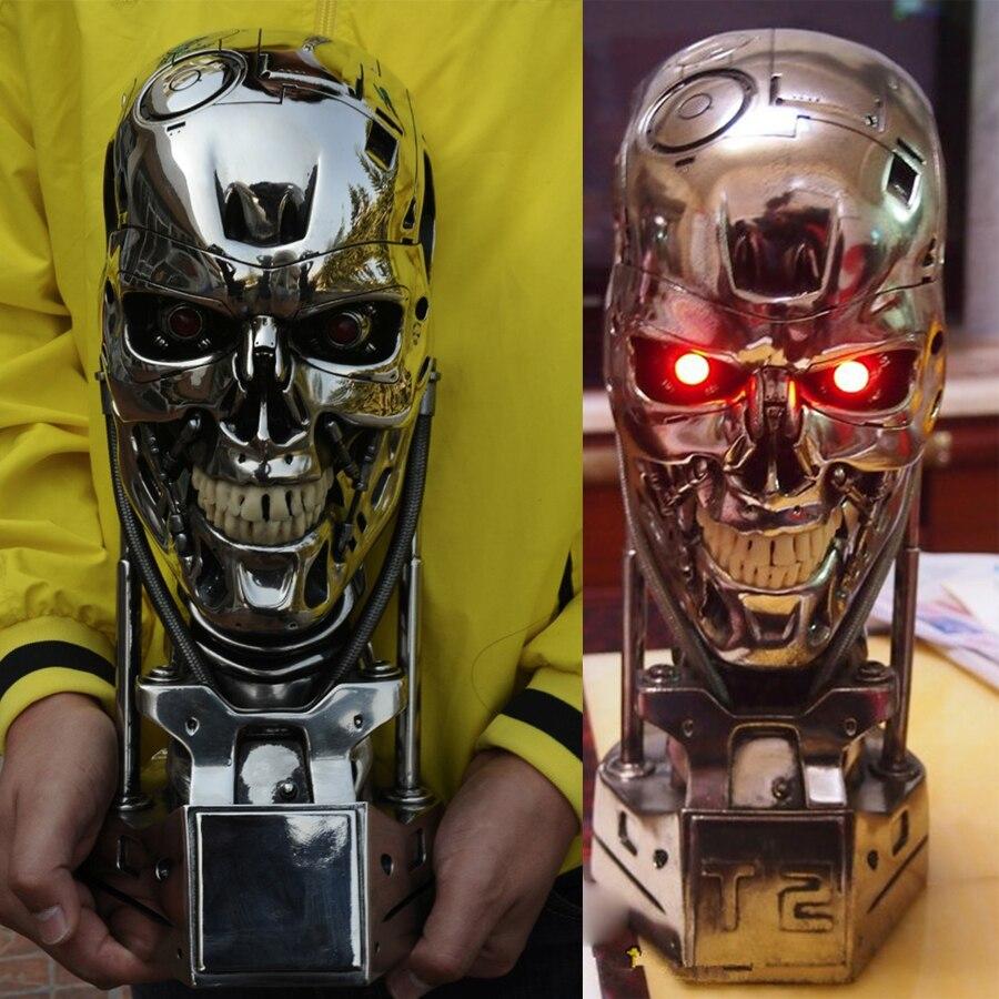 1:1 Terminator T-800 Skull Bust 3D Model Skull Endoskeleton Resin Bust Statue