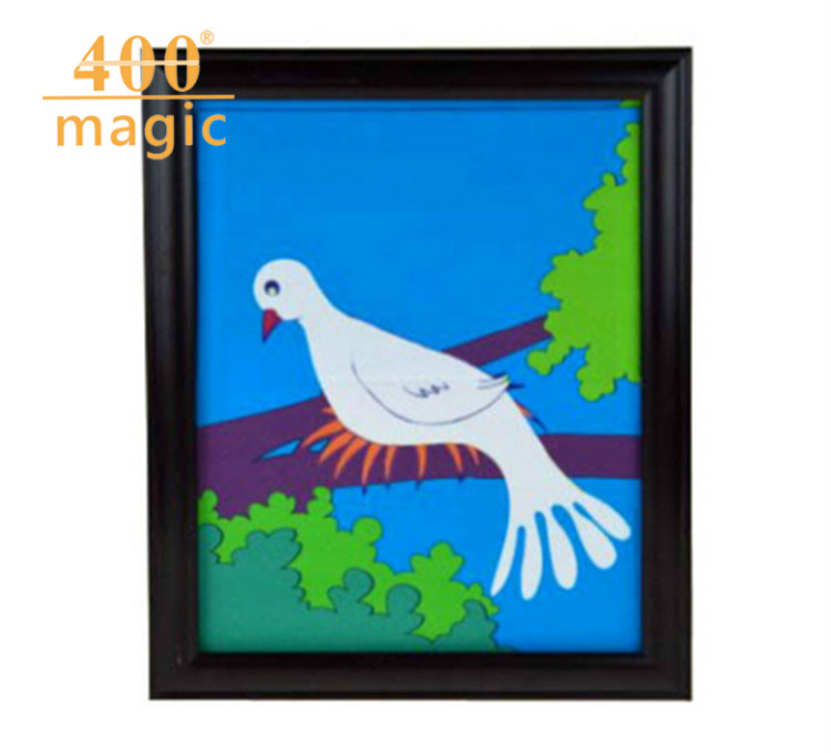 Dove Frame (One Dove Version), Dove Appearing From Picture,Magic Tricks,Stage,Illusions,Accessories,Gimmick,Prop,Comedy 400magic light heavy box stage magic comdy floating table close up illusions fire magic accessories mentalism