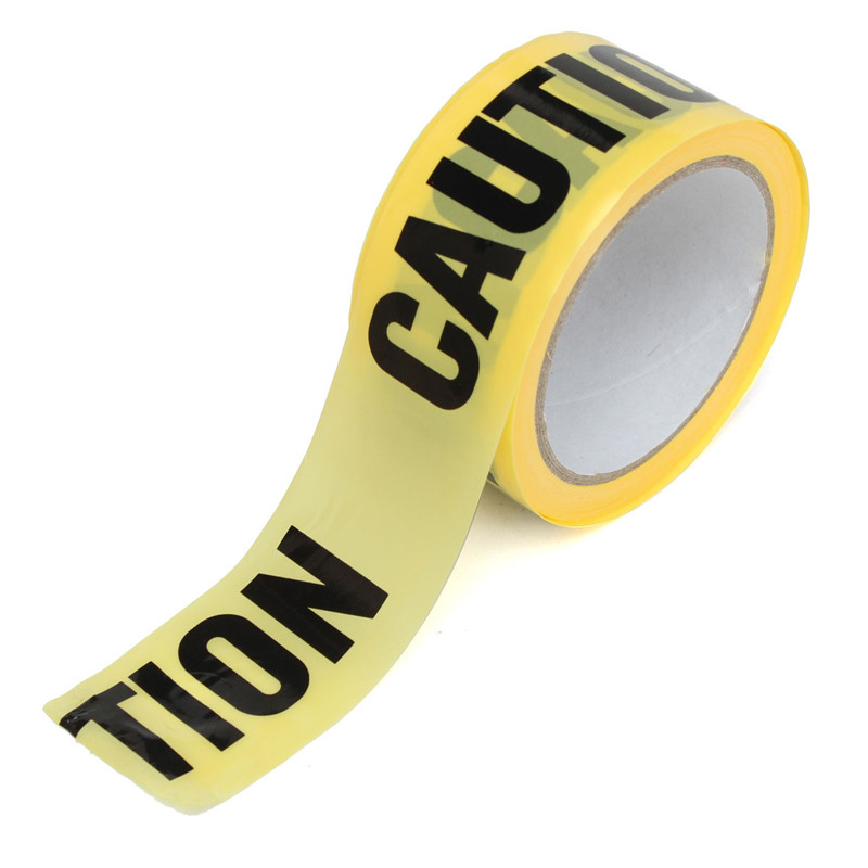 Roll Yellow Caution Warning Adhesive Tape For Safety Barrier For Police Barricade Contractors Maintenance 50mx5cm