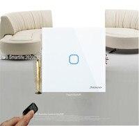 EU UK Type SESOO RF433 Wireless Touch Remote Control Smart Switch 1 Gang 1 Way Glass