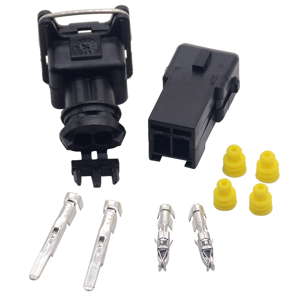 1x EV1 Fuel Injector 2Pin way Electrical Wire Connector Plug Waterproof