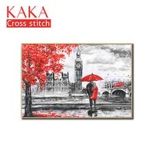 クロスステッチキット、刺繍裁縫セット印刷されたパターン、 11CT canvas のための家の装飾絵画、肖像フル CKP0015