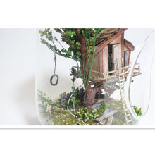 Novelty Mini Glass Ball House DIY Model Toy Tree House