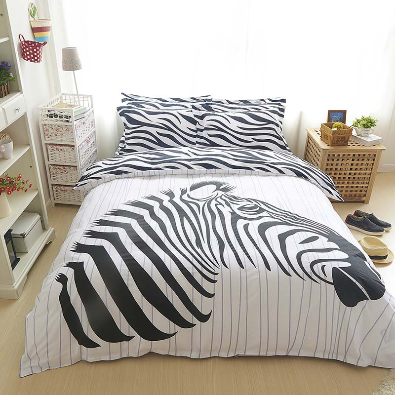 100  cotton zebra bedding sets Black and hundred 3pcs 4pcs queen twin duvet  cover. Online Get Cheap Zebra Bedding Sets  Aliexpress com   Alibaba Group