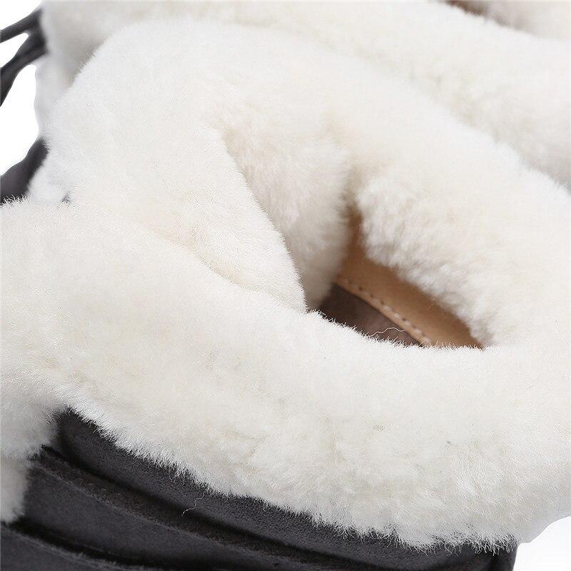 Gamuza Redondo Para gris Negro Superior Morazora Dedo Cuero 2018 Encaje Del Las Invierno Tacones Mujer De Pie Calidad Cuadrados Nieve Caliente Tobillo La Mujeres Botas pXXxH4