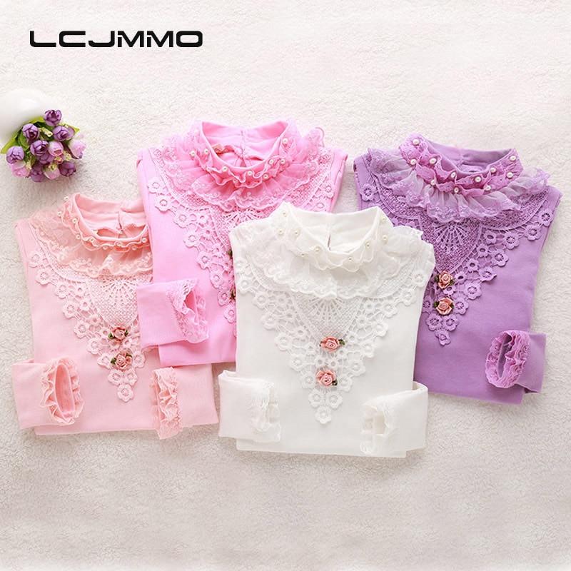 LCJMMO Μόδα Άνοιξη Lace Κορίτσια Μπλούζα - Παιδικά ενδύματα - Φωτογραφία 2