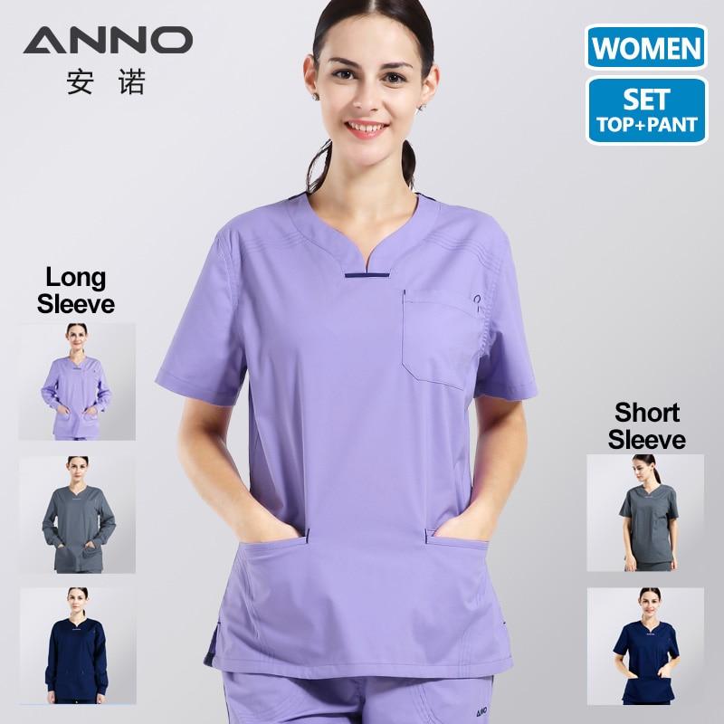 ANNO الصيف النساء الملابس الطبية مستشفى الدعك ممرضة موحدة عيادة الأسنان وصالون تجميل تصميم الأزياء سليم صالح
