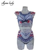 Women Swimwear Bikini Set 2017 New Style Sexy Print Summer Brazilian Beach Female Swimsuit Swim Sport