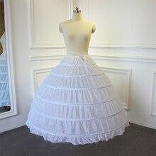 Enagua de alta calidad, 6 anillos sin tul para vestido de baile, vestido de boda, 95cm de largo