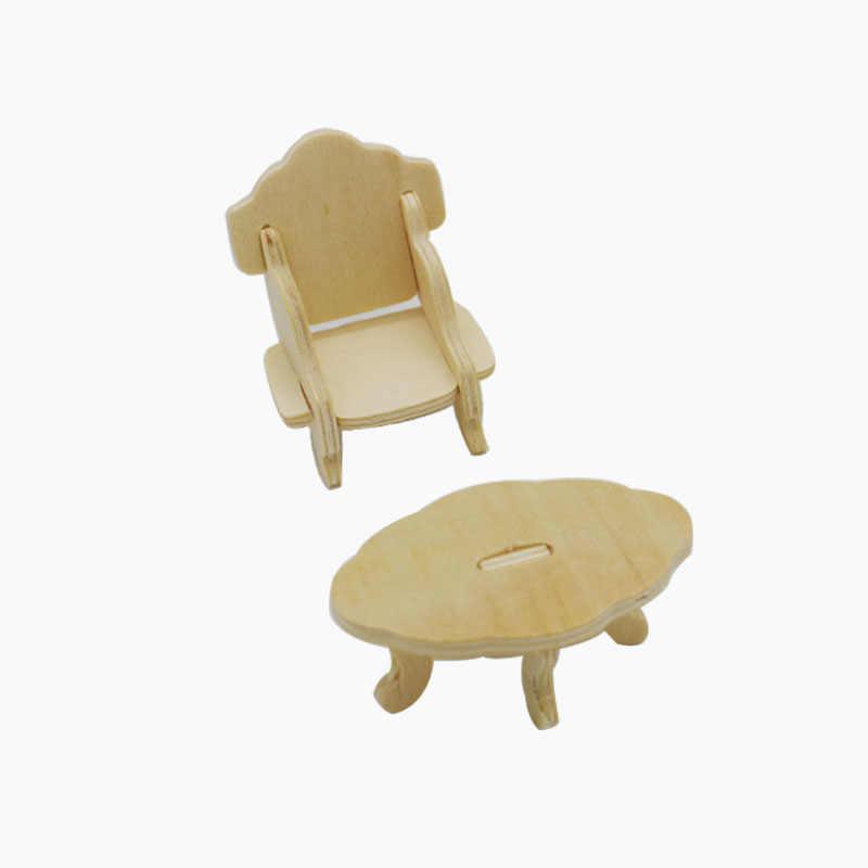 1 компл. = 34 шт., деревянный кукольный дом мебели головоломки весы Миниатюрные модели DIY интимные аксессуары комплект