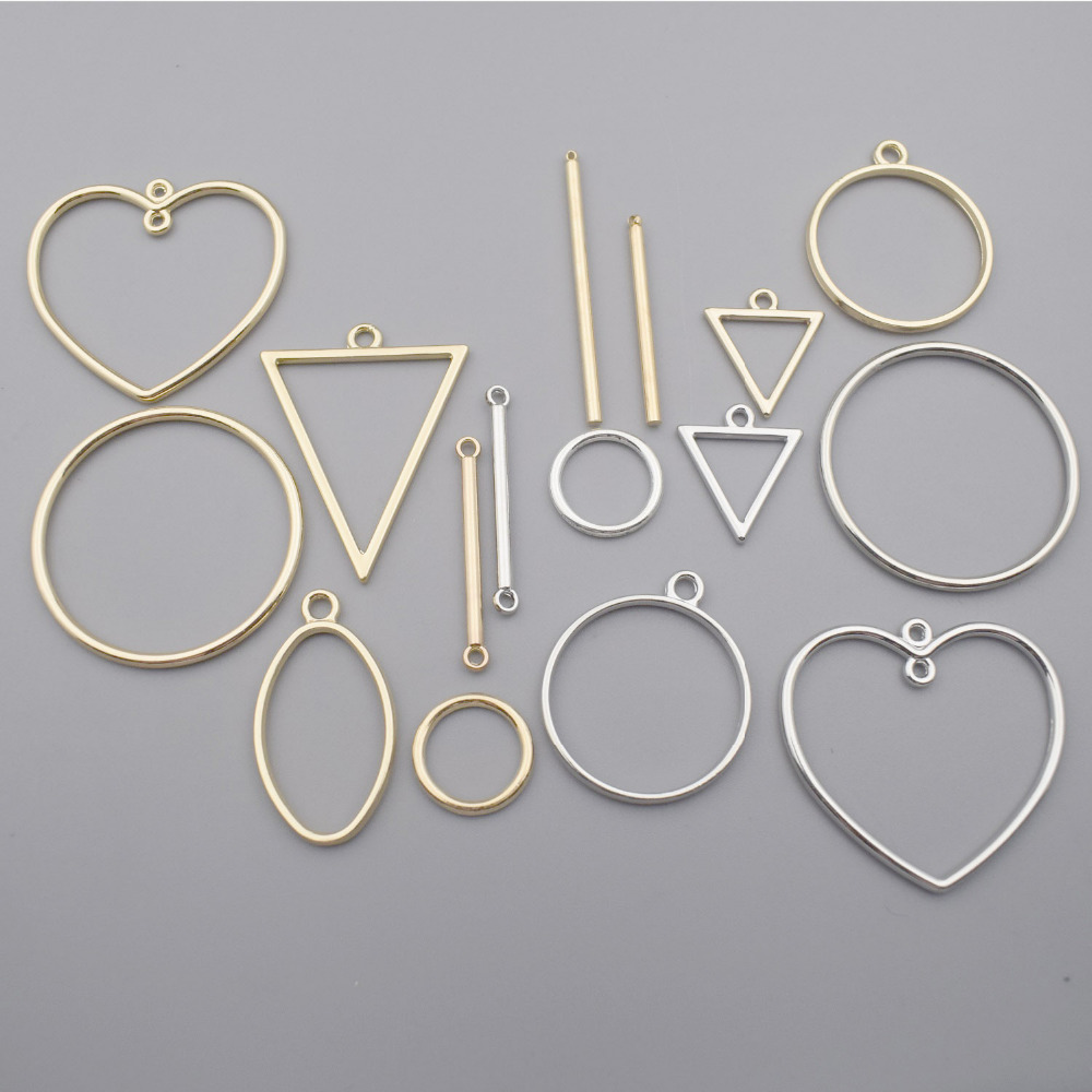 High Quality Plated Simple Geometric Figures Earrings Pendants Accessories For DIY Handmade And Jewelry Connector Findings