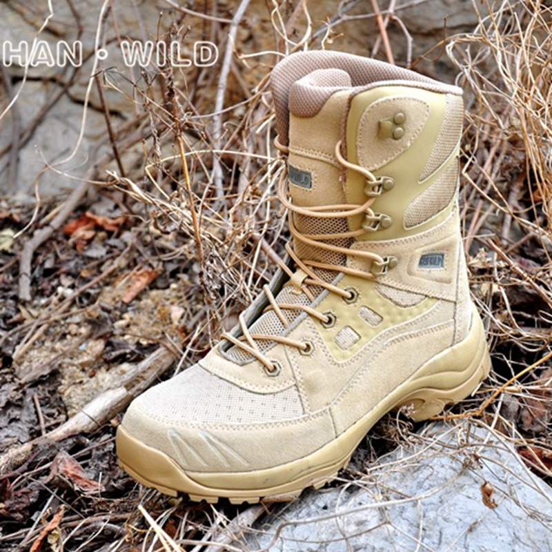 Military Combat Desert Boots High Top Outdoor Footwear Comfortable Military Tactical Boots Hiking Climbing Trekking Sports Shoes new palladium fashion style high top tactical military boots man and woman outdoor travel hiking boots comfortable canvas shoe
