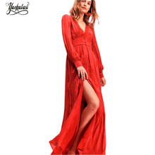 34e31efca7 High Quality Long Sleeve Embroidered Maxi Dress Promotion-Shop for ...