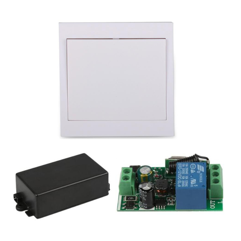 AC 110V 220V Receiver 86 Wall Panel RF Wireless Remote Control Switch Transmitter For Hall Bedroom Ceiling Lights Wall Lamps TX mini stable 10a 220v 1ch rf remote control switch system for led bulb light strips receiver 86 wall panel transmitter
