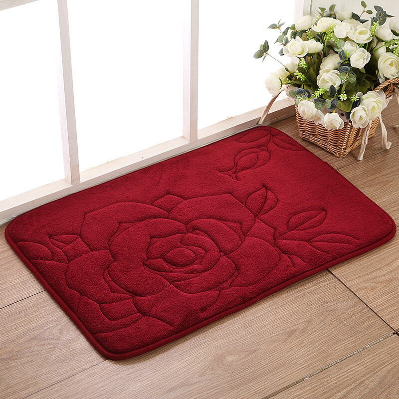 beibehang high quality New absorbent coral flock mats thickened mattresses roses pastures slow rebound living room bedroom mats