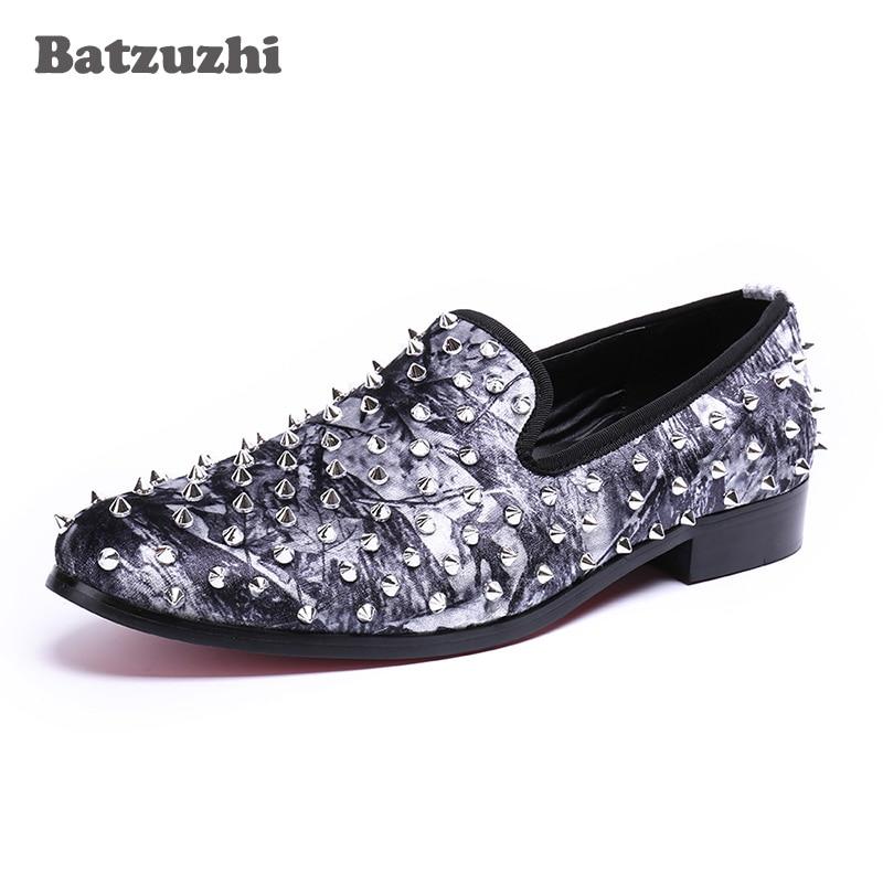 Handmade Luxury Men Genuine Leather Dress Shoes Men Flats Rivets Men Loafers Shoes Designer Zapatos Hombre Party Men Shoes цена