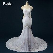 Ruolai Sexy Waist 2019 Wedding Dress Long Train Sweetheart