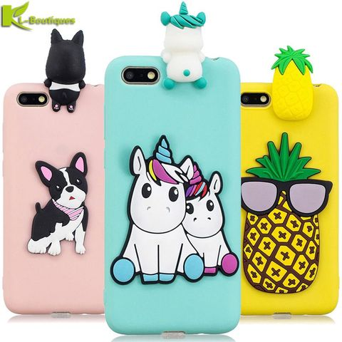 Huawei Y5 2018 Case on for Coque Huawei Y 5 Y5 prime 2018 Y5 Lite Y5 2019 Cover Cartoon 3D Doll Toys Candy Soft Silicone Cases Pakistan