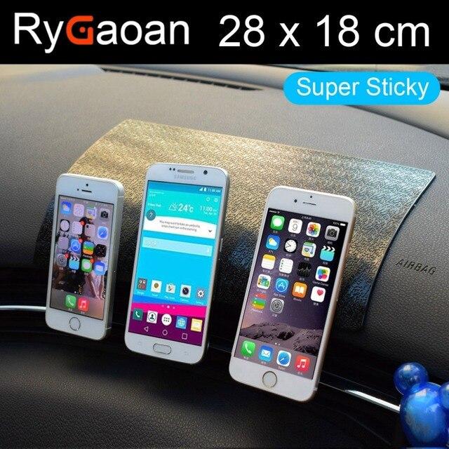 RyGaoan 28*18 см (11*7 дюймов) супер липкий Универсальный Большой размер приборной панели автомобиля Волшебный Противоскользящий коврик нескользя...
